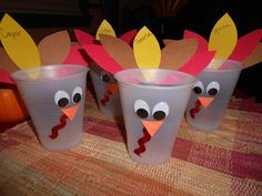 pinterest project completed: turkey cups for kiddos on thanksgiving Pizza Number, Turkey Cup, Pinterest Projects, Thanksgiving Crafts, Special Events, Preschool, Cups, Classroom, Holidays