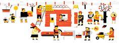Illustrations 2 by Romualdo Faura, via Behance