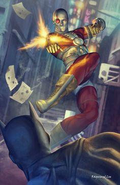 Deadshot Commission Original Suicide Squad by raymundlee on DeviantArt Deadshot Comics, Fighting Poses, Batman Wonder Woman, Marvel Vs, Marvel Comics, Batman Universe, Dc Comics Art, Batman Art, Joker And Harley