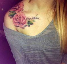 Most Fabulous Collar Bone Tattoos For Girls