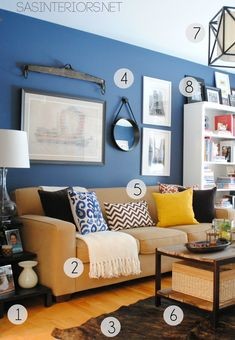 Paint Color Van Deusen Blue by Benjamin Moore    Resources for Products in my Home Office / Family Room space by @Jenna_Burger, sasinteriors.net