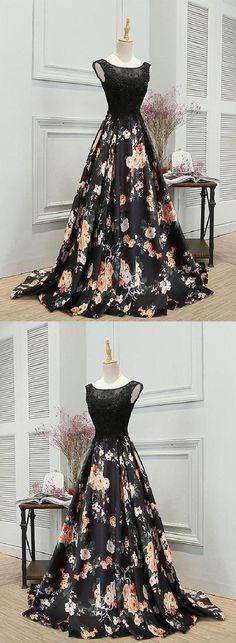 Black Evening Dresses, Prom Dresses 2019, Prom Dress Long #PromDresses2019 #BlackEveningDresses #PromDressLong