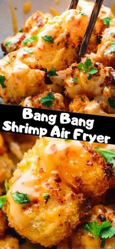 Air Fryer Oven Recipes, Air Frier Recipes, Air Fryer Dinner Recipes, Air Fryer Recipes Shrimp, Air Fried Shrimp Recipe, Grilled Shrimp, Seafood Recipes, Cooking Recipes, Crockpot Recipes