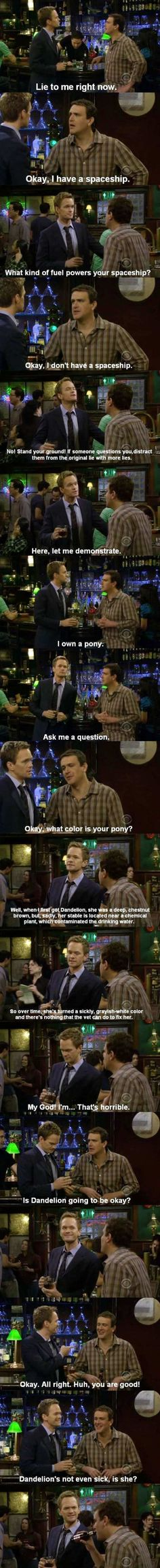 laughed out loud,,,not lying! How I Met Your Mother