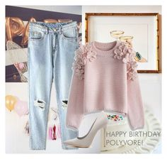 """""""H A P P Y   B I R T H D A Y  P O L Y V O R E"""" by pinsplace ❤ liked on Polyvore featuring Chicwish, women's clothing, women, female, woman, misses and juniors"""