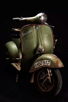 Vespa - great way to get around in town.