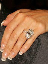 Victoria Beckham's Engagement Bling | Marquis Cut Diamond Ring