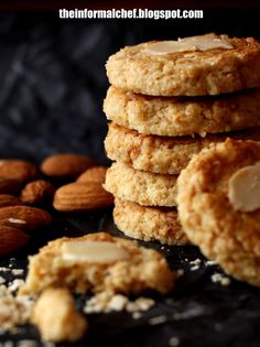It has ground almond and Nestum inside the cookies making the cookies fragrant, crunchy and flavourful.  And it is laden with wholesome goodness.