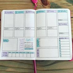 Bullet Journal Spreads That'll Start Your New Year Organized and Keep You Or. - Bullet Journal Spreads That'll Start Your New Year Organized and Keep You Organized – - Bullet Journal Spreads, Bullet Journal Weekly Layout, Bullet Journal Junkies, Bullet Journal Inspo, Bullet Journal Spending Tracker, Bullet Journal Water Tracker, Planner Stickers, Bellet Journal, Blog Planner