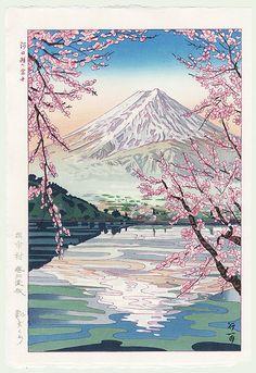 Mt. Fuji from Lake Kawaguchi by Koichi Okada (born 1907)