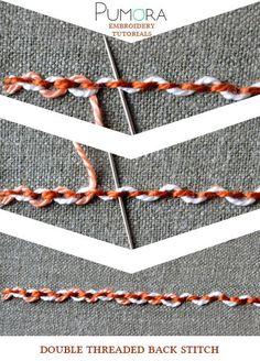 threaded back stitch