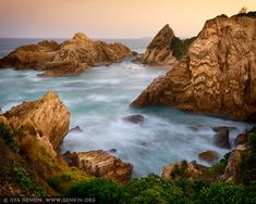 landscapes stock photography   Sunset at Murunna Point, Bermagui, South Coast, NSW, Australia