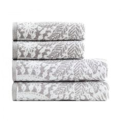 4-Pc. British Towel Set from Cotton designed by by Vinga of Sweden #MONOQI