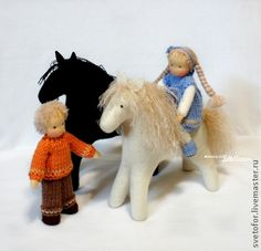 Вальдорфская игрушка ручной работы. Ярмарка Мастеров - ручная работа Ребятки и лошадки. Handmade.