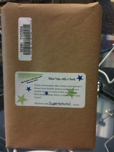 """Blind date with a book--wrap a book in a brown bag & stick a barcode on it.  This book is great for """"x"""" genre readers."""