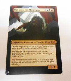MTG Altered Painted Nekusar the Mindrazer Commander 2013 #WizardsoftheCoast