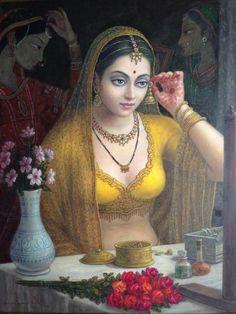 Bedroom paint colors valspar grey Ideas for 2019 Indian Women Painting, Indian Art Paintings, Hindu Kunst, House Paint Interior, Interior Painting, Interior Design, Interior Colors, Rajasthani Painting, India Art