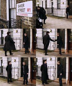 Sherlock, filming season 3, London.