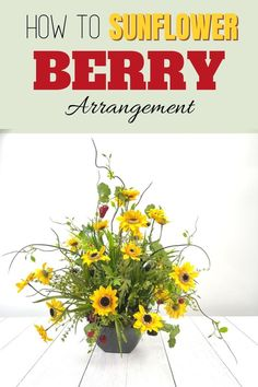 Make a DIY Sunflower Berry artificial flower arrangement for your entryway or your living room. Decorating with flowers is fun! Our wreath of the month club has over 100 video tutorials, including this one. Click to learn more. #wreathmaking #diy #southerncharmwreaths Artificial Flower Arrangements, Artificial Flowers, Full Sun Garden, Wreath Crafts, Diy Crafts, Shade Garden, How To Make Wreaths, Porch Decorating, Fresh Flowers