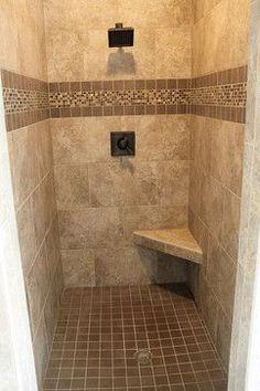 Bathroom Tile Ideas Traditional frameless shower | tile, showers and benches