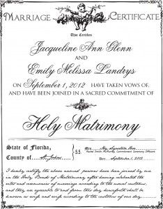Custom Marriage Certificate I Love The Colors And Fonts Used The