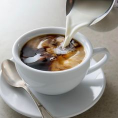 Coffee with Half & Half ~ Mary Wald's Place But First Coffee, I Love Coffee, Coffee Break, Coffee Cafe, Coffee Drinks, Coffee Shop, Latte, Aesthetic Food, Mochi