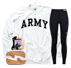 """""""I'm ready for the weekend!"""" by sassysouthernprep99 ❤ liked on Polyvore featuring NIKE, UGG, Mikimoto, Kate Spade and Pieces"""