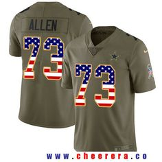 Men s Dallas Cowboys Tony Dorsett Olive with USA Flag 2017 Salute To Service  Stitched NFL Nike Limited Jersey b99f460fa