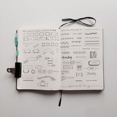 Bullet Journal Inspiration - Header, Dividers and Date Entry ideas