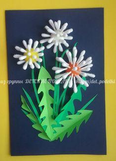 **put a whole bunch more qtips and diy spray paint ДЕТСКИЕ ПОДЕЛКИ Creative Activities For Kids, Art Activities, Diy For Kids, Crafts For Kids, Spring Art, Spring Crafts, Diy And Crafts, Arts And Crafts, Paper Crafts