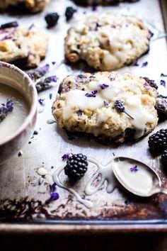 Blackberry Lavender White Chocolate Scones