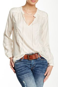 Lucky Brand   Holiday Peasant Top