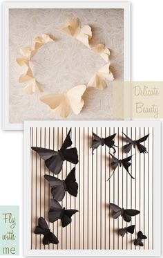 Paper butterflies for your wall!