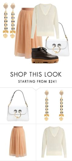 """""""The Apple - The Fashion Forward - Weekend Look"""" by melaniemorel on Polyvore featuring J.W. Anderson, Dolce&Gabbana, Muveil, Raey and Acne Studios"""
