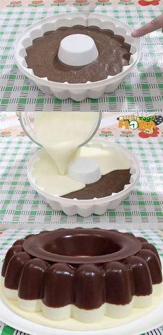 Pudim de Chocolate com Leite Ninho Jello Recipes, My Recipes, Sweet Recipes, Cake Recipes, Dessert Recipes, Cooking Recipes, Favorite Recipes, Food Inspiration, Love Food