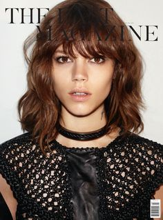 the wavy lob with bangs has made an appearance on here several times, probably for a reason. here it is on Abbey Lee Kershaw. Not my description^ . this is not Abbey Lee. Wavy Lob, Short Wavy Hair, Long Hair Cuts, Curly Hair, Messy Hair, Soft Hair, Messy Bun, Lob With Bangs, Hairstyles With Bangs