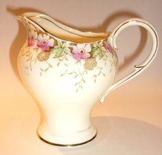 Paragon Garland Vintage China Tea set milk jug cream and pink flowers