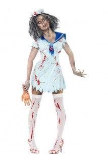 Déguisement zombie marinière femme Halloween