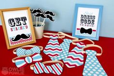 "Photo 18 of 23: Little Man Mustache Bash / Baby Shower/Sip & See ""Little Man Mustache Baby Shower"" 