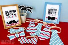 "Photo 18 of 23: Little Man Mustache Bash / Baby Shower/Sip & See ""Little Man Mustache Baby Shower"" | Catch My Party"