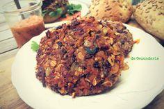 Gezond recept voor homemade stoere Groenteburger van rode kidneybonen. Een vleesvervanger die hamburgervervangerwaardig is.