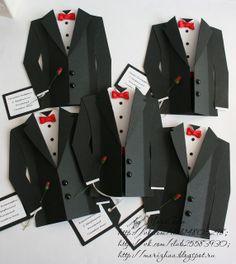 tuxedo cards- template @  http://goldenhands.me/wp-content/uploads/2011/06/tuxedo-templates.pdf
