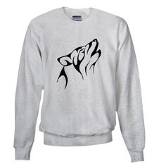 Tribal Wolf Tattoo Sweatshirt