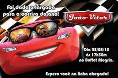Convite digital personalizado Carros da Disney 010