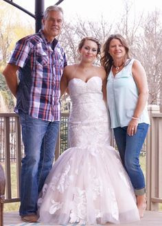 Cousin Sherie and her husband with granddaughter before prom