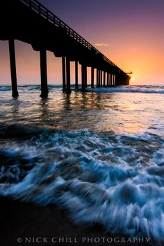 A dynamic shot of Scripps Pier at sunset - by Nick Chill - My new screensaver.