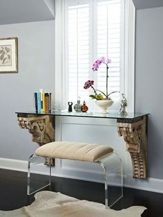 Cool Desk Designs for Your Home I love that it's infront of the window