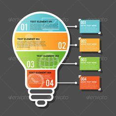 Four Part Horizontal Bulb Infographic Template #design Download: http://graphicriver.net/item/four-part-horizontal-bulb-infographic/7615070?ref=ksioks