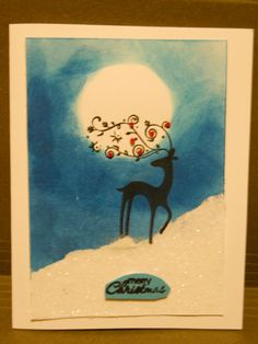 Dasher Christmas Card Stampin' Up!