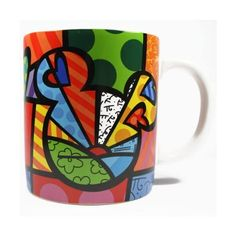 Disney by International Artist Romero Britto for Enesco Peace Love Mickey Mug 4.25 IN:Amazon:Kitchen & Dining